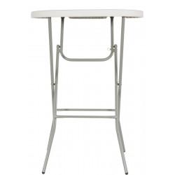Statafel rond 80 cm kunststof tafelblad 110 cm hoog