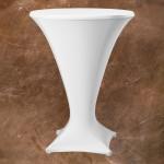 Statafelrok model cocktail kleur wit