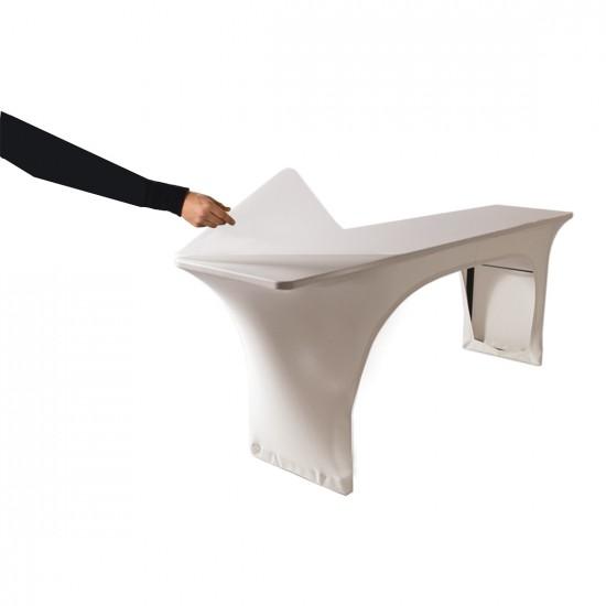 Beschermplaat plexiglas voor tafelhoes 183 x 75 cm