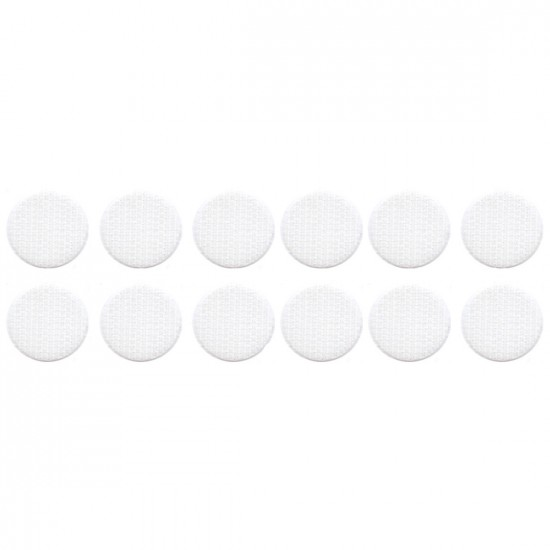 Klittenband rondjes haak op rol diameter 19 mm wit