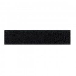 Klittenband lus op rol 20 mm breed 25 meter lang zwart