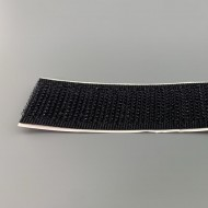 Klittenband haak op rol 20 mm breed 25 meter lang zwart