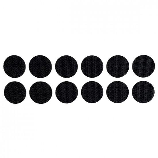 Klittenband rondjes haak op rol diameter 19 mm zwart