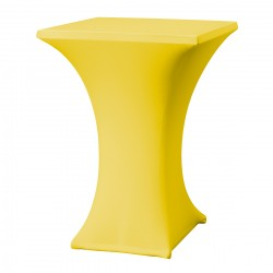 Statafelrok vierkant 80 x 80 cm model rumba geel