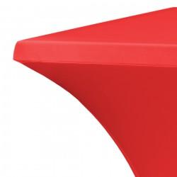 Statafelrok vierkant 80 x 80 cm model rumba rood