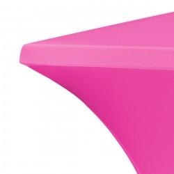 Statafelrok vierkant 80 x 80 cm model rumba roze
