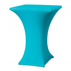 Statafelrok vierkant 80 x 80 cm model rumba turquoise