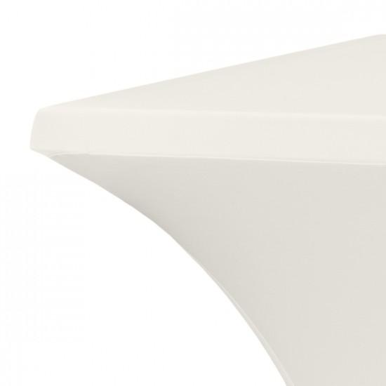 Statafelrok vierkant 80 x 80 cm model rumba ecru