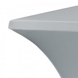 Statafelrok vierkant 80 x 80 cm model rumba grijs