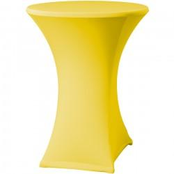 Statafelrok Élégance geel voor statafel 80-85 cm