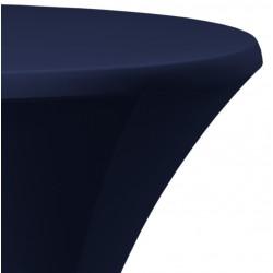 Statafelrok Élégance donkerblauw voor statafel 80-85 cm