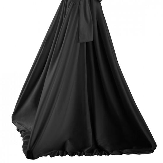 Statafelrok met strik model Garden zwart