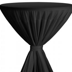 Statafelrok met strik model Fiesta zwart