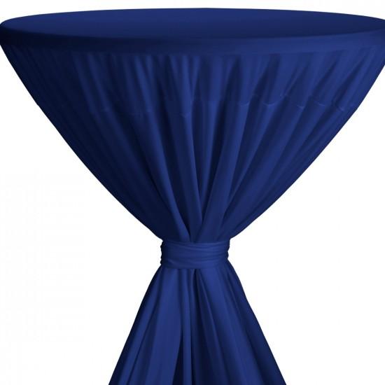 Statafelrok met strik model Fiesta blauw