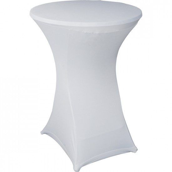 Statafelrok Élégance wit voor statafel 80-85 cm