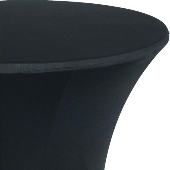 Statafelrok Élégance zwart voor statafel 80-85 cm