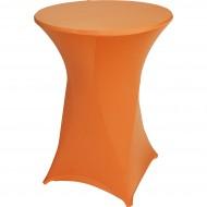 Statafelrok Élégance oranje voor statafel 80-85 cm