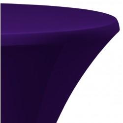 Statafelrok Élégance paars voor statafel 80-85 cm