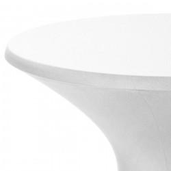 Bistro line tafelhoes stretch met ritssluiting 72 x 60 cm wit