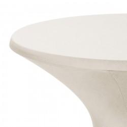 Bistro line tafelhoes stretch met ritssluiting 72 x 60 cm creme