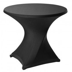 Bistro line tafelhoes stretch met ritssluiting 72 x 60 cm zwart