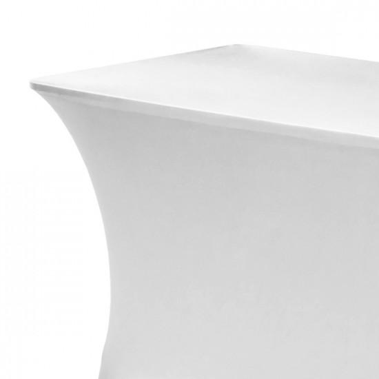 Tafelhoes stretch 180 x 76 x 74 cm élégance wit