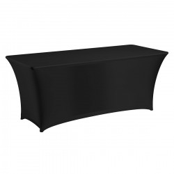 Tafelhoes stretch 180 x 76 x 74 cm élégance zwart