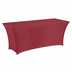 Tafelhoes stretch 180 x 76 x 74 cm élégance bordeaux