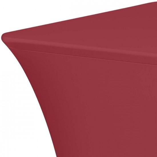 Tafelhoes stretch 180 x 76 x 74 cm élégance bordeaux