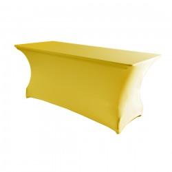 Tafelhoes rechthoek symposium 183 x 76 x 73 cm geel