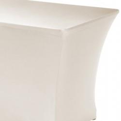Tafelhoes rechthoek symposium 183 x 76 x 73 cm creme