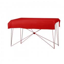 Tafelkleed rechthoekig polyester kleur rood