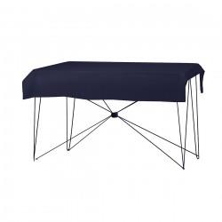 Tafelkleed rechthoekig polyester kleur donkerblauw