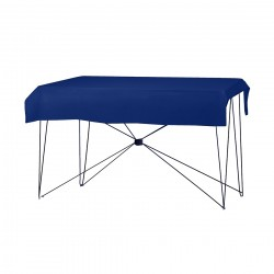 Tafelkleed rechthoekig polyester kleur blauw