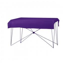 Tafelkleed rechthoekig polyester kleur paars