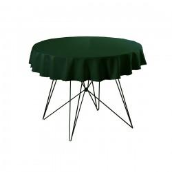 Tafelkleed rond 220 cm polyester kleur groen
