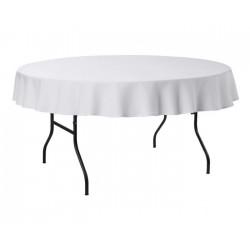 Tafelkleed rond 220 cm polyester kleur wit