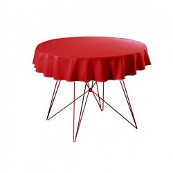 Tafelkleed rond 220 cm polyester kleur rood