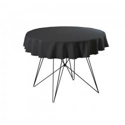 Tafelkleed rond 220 cm polyester kleur zwart