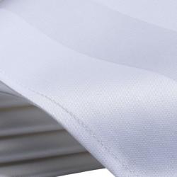 Tafelkleed katoen met satijnband 80 x 80 cm wit