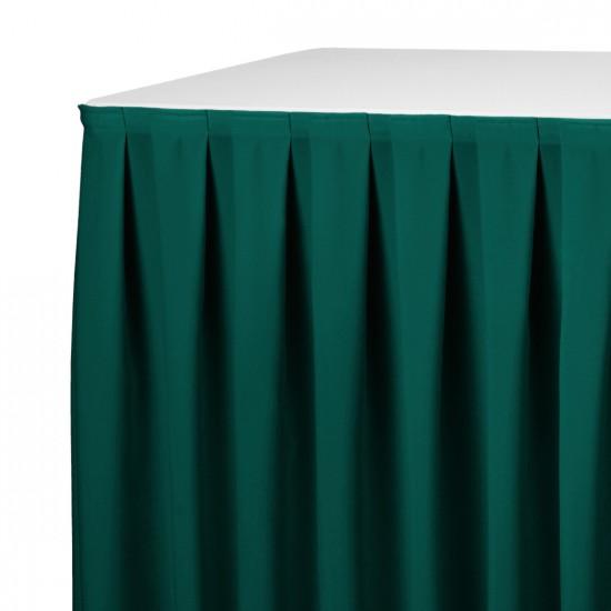 Tafelrok boxpleat met brede plooi groen