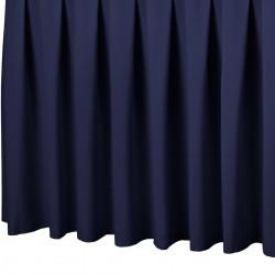 Tafelrok boxpleat met brede plooi donkerblauw