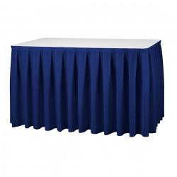 Tafelrok boxpleat met brede plooi blauw