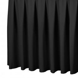 Tafelrok boxpleat met brede plooi zwart