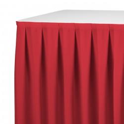 Tafelrok boxpleat met brede plooi rood