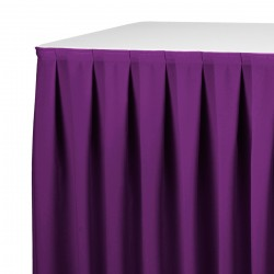 Tafelrok boxpleat met brede plooi paars