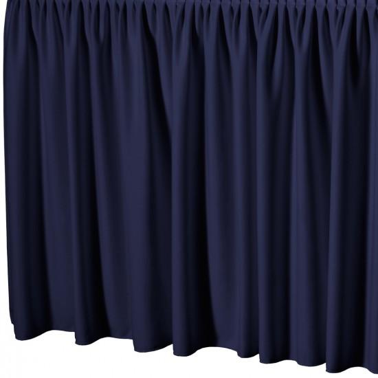 Tafelrok met plissé plooi rechthoekig donkerblauw