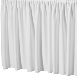 Tafelrok met plissé plooi rechthoekig wit