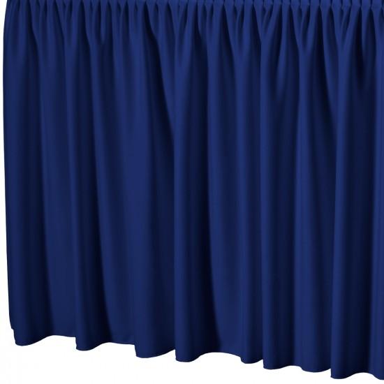 Tafelrok met plissé plooi rechthoekig blauw
