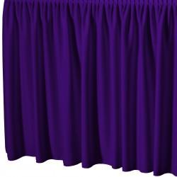 Tafelrok met plissé plooi rechthoekig paars